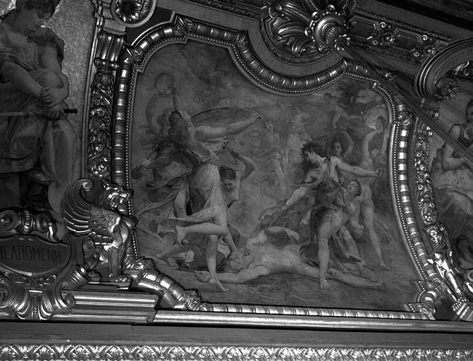 Décor du plafond du Grand Foyer : Orphée déchiré par les Ménades
