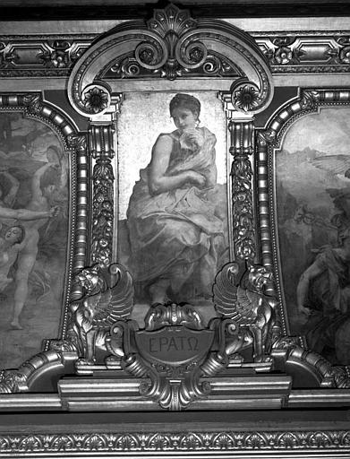 Décor du plafond du Grand Foyer : Erato