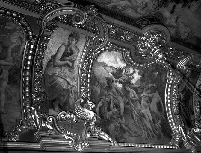 Décor du plafond du Grand Foyer : Erato - Jugement de Pâris