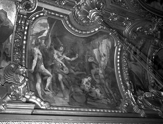 Décor du plafond du Grand Foyer : Jupiter enfant et les Corybantes