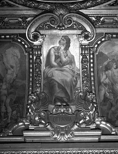 Décor du plafond du Grand Foyer : Urania