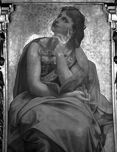 Décor du plafond du Grand Foyer : Urania (détail)