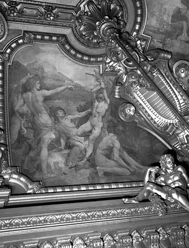 Décor du plafond du Grand Foyer : Apollon ordonnant le supplice de Marsyas