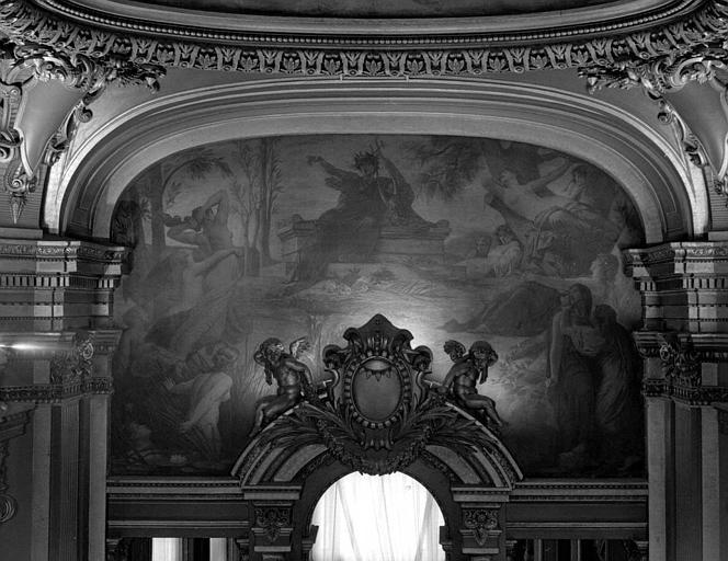 Décor du plafond du salon ouest du Grand Foyer : Orphée au tombeau d'Eurydice, La musique dramatique