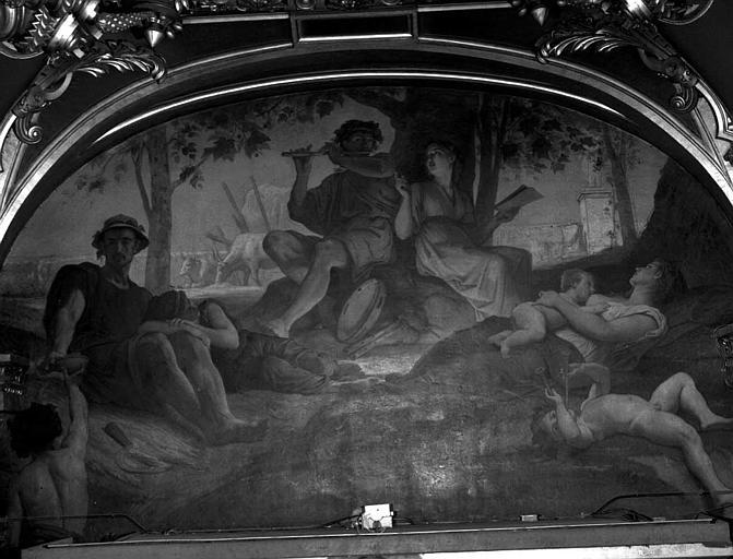 Décor du plafond du salon ouest du Grand Foyer : La Musique champêtre