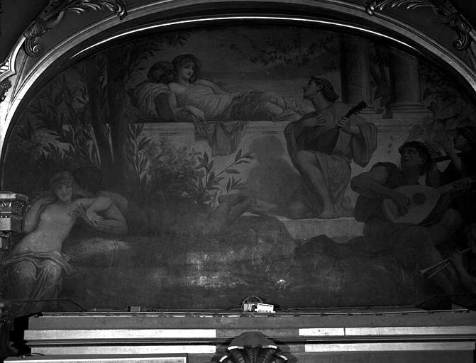 Décor du plafond du salon ouest du Grand Foyer : La Musique amoureuse