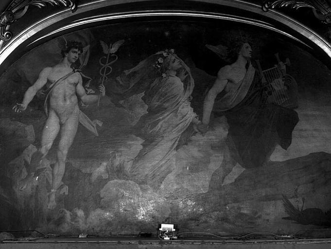 Décor du plafond du salon est du Grand Foyer : Orphée emmenant Eurydice