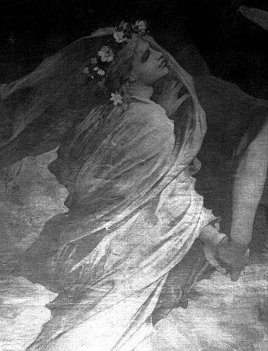 Décor du plafond du salon est du Grand Foyer : Eurydica (détail de Orphée emmenant Eurydice)