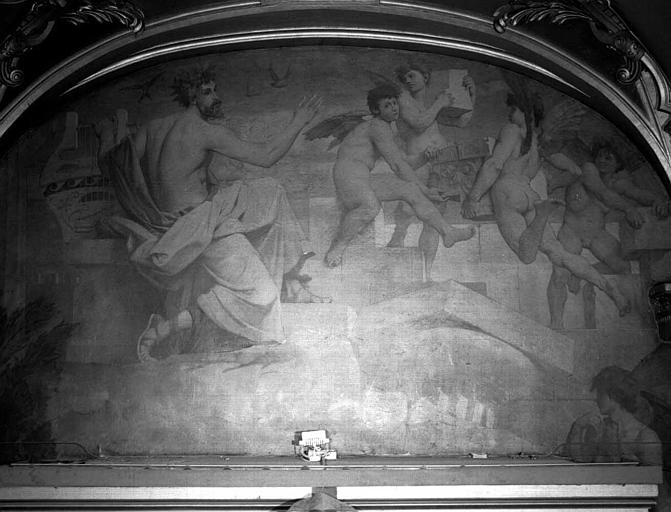 Décor du plafond du salon est du Grand Foyer : Amphion