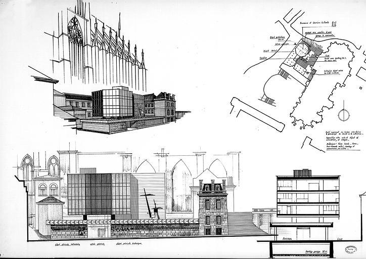 Plan d'intégration urbaine : Plan, coupe et élévations