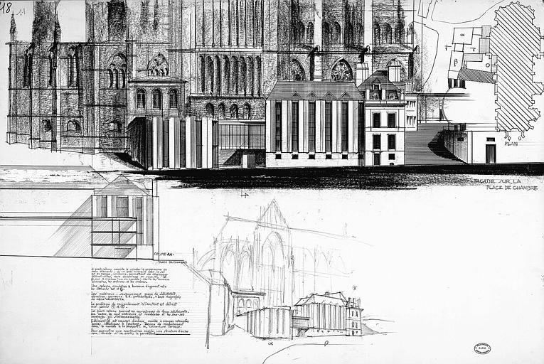 Plan d'intégration urbaine : Elévation, coupe, vue perspective
