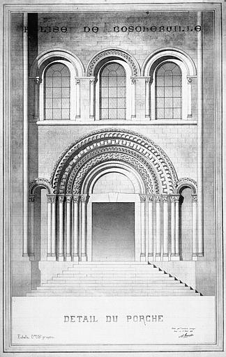 Elévation du portail d'entrée
