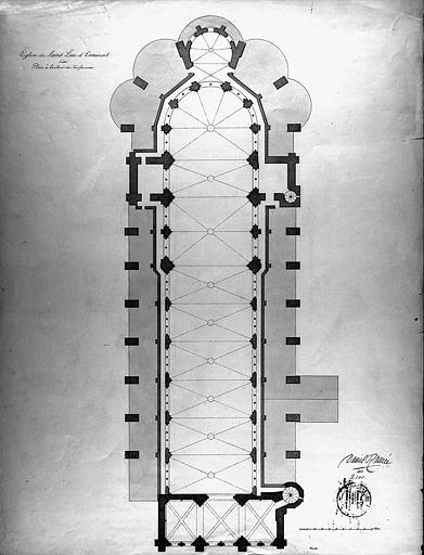 Plan à la hauteur du triforium