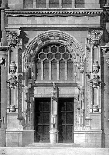 Elévation du portail latéral sud