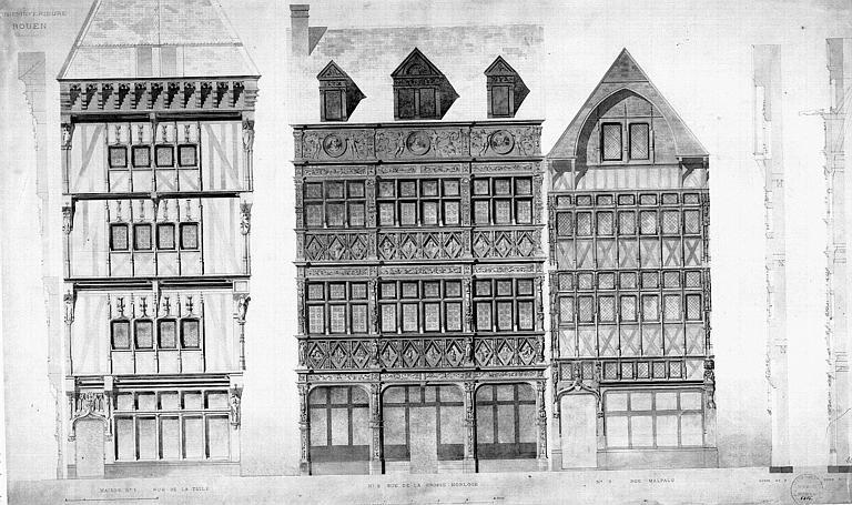 Elévations des façades et pignons