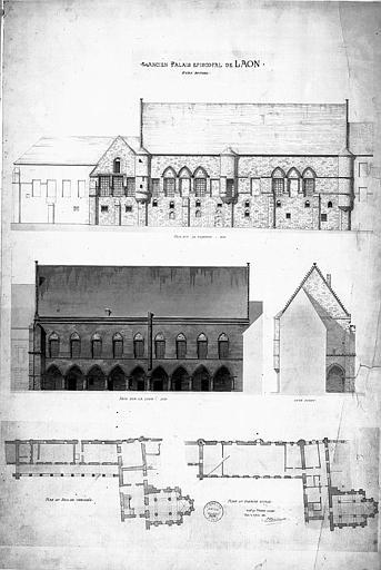 Elévations des façades et plans (état actuel)