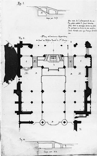 Plan de l'ancienne disposition du choeur de l'église royale de Saint-Denis
