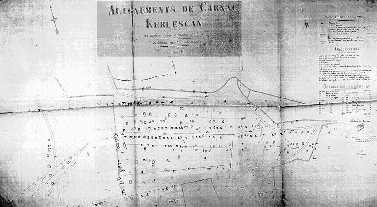 Plan de la section H de Kerlescan