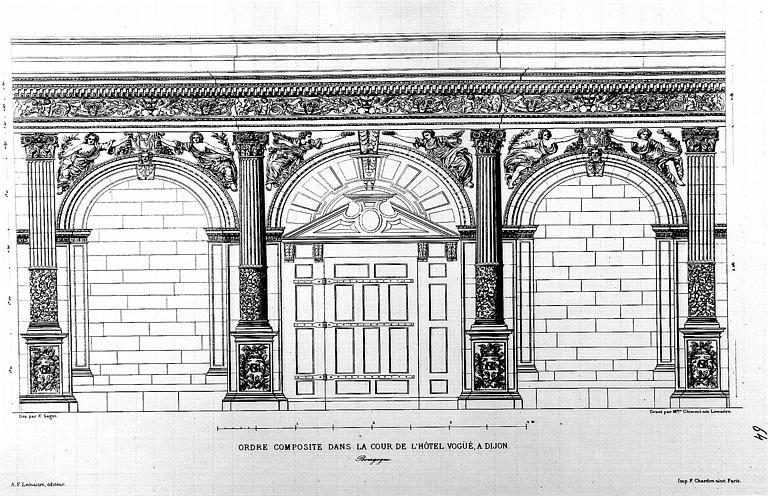 Gravure : L'ordre composite dans la cour