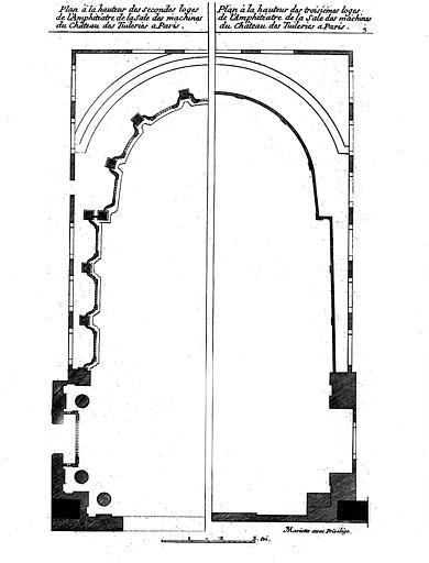 Salle des machines : Plan à la hauteur des 2e et 3e loges de l'amphithéâtre