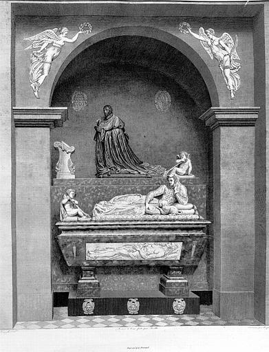 Gravure : Tombeau du Cardinal René de Biragne 1507-1583