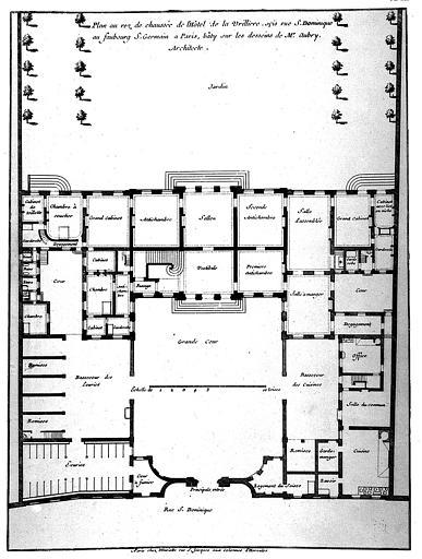 Gravure : Plan du rez-de-chaussée