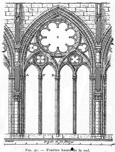 Gravure : Fenêtre haute de la nef