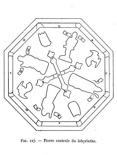 Gravure : Pierre centrale du labyrinthe