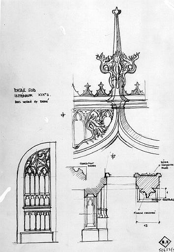 Détails de la face intérieure du portail sud