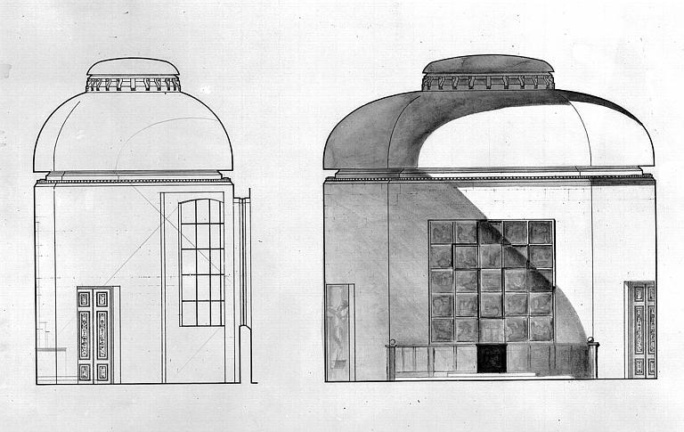 Projet de décor de la chapelle : Coupe transversale