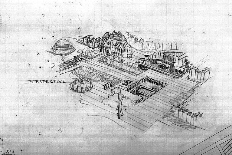 Projet d'immeuble dans le quartier Saint-Eustache : Vue cavalière