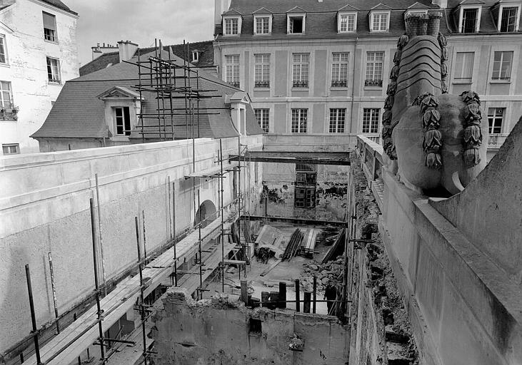 Vue extérieure du chantier