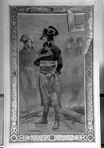 Peinture sur toile marouflée du parloir : Napoléon Bonaparte