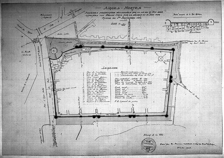 Plan général aquarellé