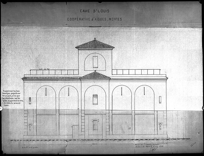 Elévation de la façade