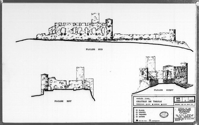 Elévations des façades sud, est et ouest