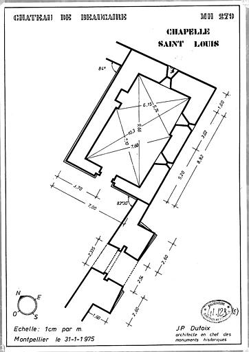 Plan de la chapelle Saint-Louis