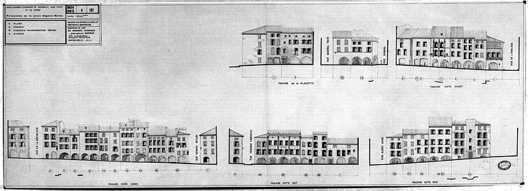 Rénovation de la place Auguste Mallet : Transformations prévues sur les façades