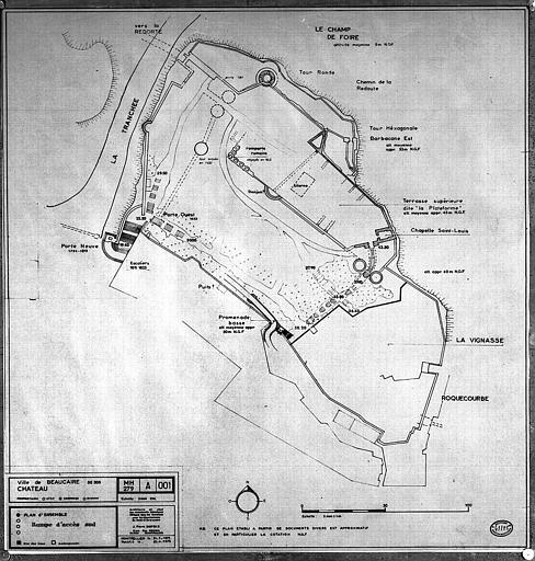 Plan d'ensemble de la rampe d'accès sud