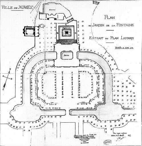 Plan d'ensemble, extrait du plan Liotard