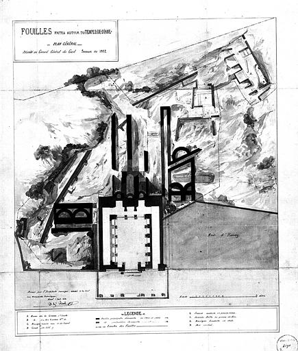 Plan général des fouilles
