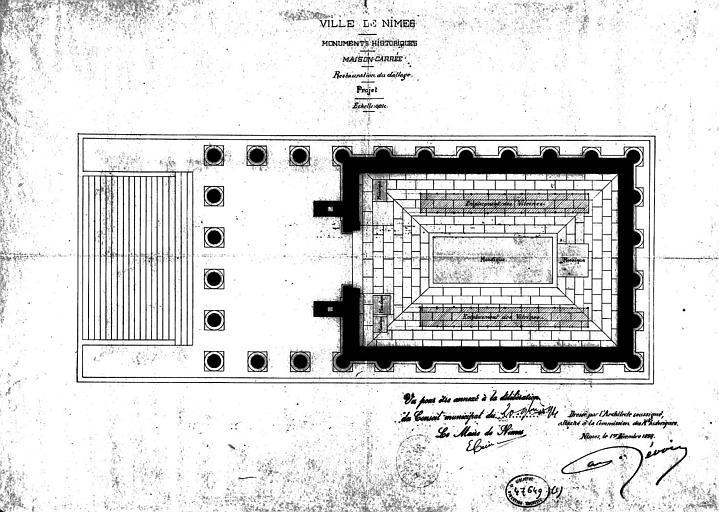 Projet de restauration du dallage : Plan