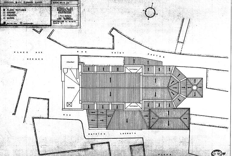 Plan des toitures