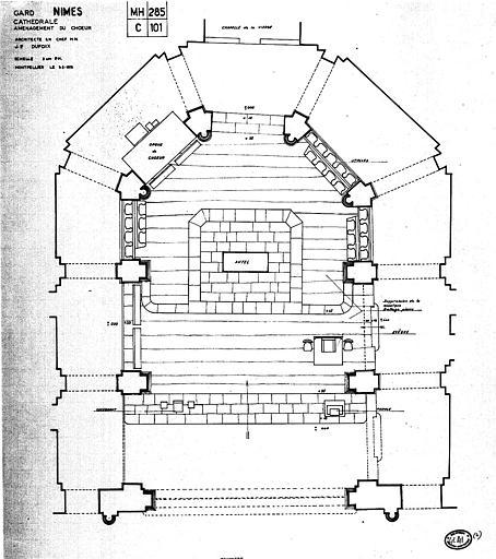 Projet d'aménagement du choeur : Plan