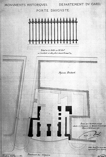 Plan et détail de la grille