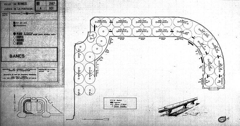 Projet d'aménagement des bancs de la partie centrale ouest de la promenade basse