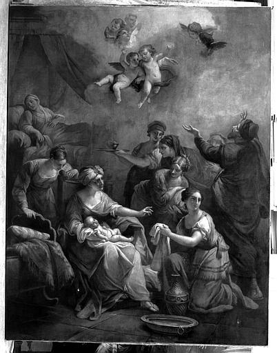 Peinture sur toile : Naissance de la Vierge