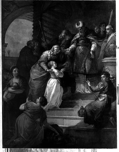 Tableau, cadre : la Présentation de la Vierge