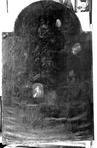 Peinture sur toile (à droite du maître-autel) : Saint Sylvestre et sainte Marthe devant l'Immaculée Conception