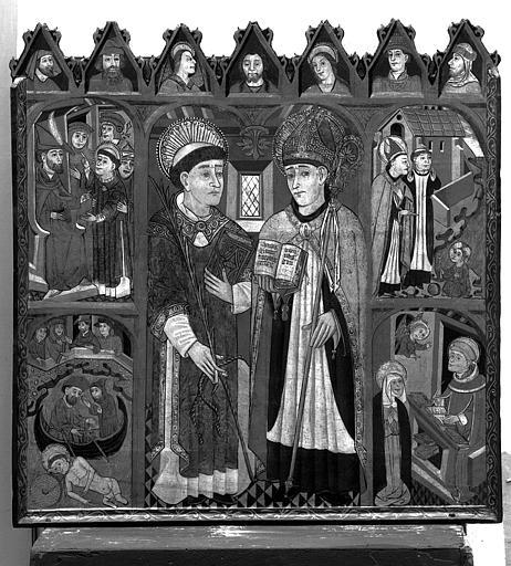 Peinture sur toile : Scènes de la vie de saint Augustin et saint Vincent